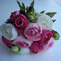 Aliexpress.com: Compre Artificial de seda flor camélia para casamentos decoração ou como um buquê de noiva, 6 bouquets / lot de confiança…