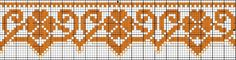 Border 83 | Free chart for cross-stitch, filet crochet | Chart for pattern - Gráfico