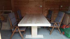 Steigerhouten tafel diy doe het zelf tuintafel