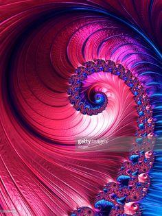 Blue and pink spiral abstract fractal pattern background. Decorative concept. Digital Art by Oksana Ariskina on @gettyimages. #OksanaAriskina #Artworks #Abstract #Fractal #gettyimages #gettyimagescreative #gettyimagesnew #Magenta #Blue