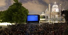 """Every summer in Vienna, numerous open-air cinemas show films on a wide range of topics. Admission is free of charge at the Musical Film Festival at City Hall, the """"Cinema under the Stars"""" on Karlsplatz and at the wandering """"Volxkino"""". Original versions with English or German subtitles can often be seen."""