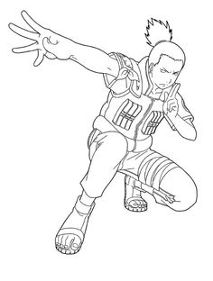 shikamaru friend naruto coloring pages