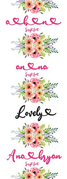 Ana Bryan | Cute Heart Script Font Romantic Fonts, Cute Fonts, Script Fonts, Crafts To Make, Stationery, Branding, Invitations, Lettering, Make It Yourself