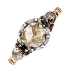 Super Rare Authentic Georgian 1760s Diamond Engagement Ring, $5250.00