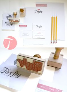 stationery for firefly events by moxee creative