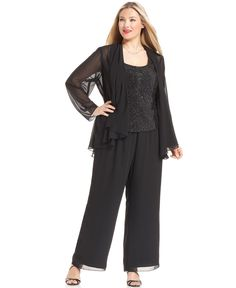City Chic Sheer Georgette Palazzo Pants (Plus Size) available at ...