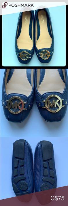 MICHAEL Michael Kors Ballet flats Navy blue with gold buckle ballet flats. Size 5, worn twice. Bought from Browns. MICHAEL Michael Kors Shoes Flats & Loafers