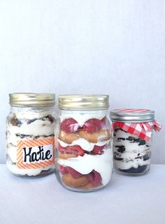 Mason Jar Ice Box Cakes