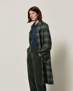 Brushed Wool Mohair Coat | TOAST