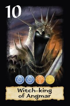Another preview of Suzanne Helmigh's great artwork for The Lord of the Rings Card game. The Witch-king of Angmar