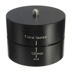 360 Degree 120 Min Panning Rotating Drift Time Lapse Stabilizer Egg Timer + Adapter For Gopro Hero 5 4 3+ XIAOMI YI SJCAM Camera