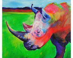 Rhino - Original Rhino PRINT - By Corina St. Martin