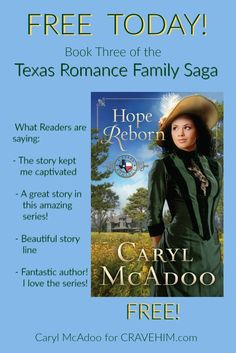 FREE Hope Reborn, book three of Texas Romance family saga