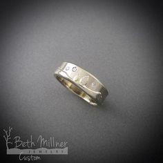 Custom Starry Diamond Sky Wedding Ring by Beth Millner Jewelry