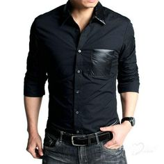 Buy Rodid Men's Solid Casual Black Shirt at fashionothon.com in ...