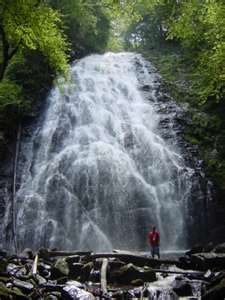Crabtree Falls, Spruce Pine,  NC.  There are several beautiful waterfalls in the area that are pretty easy to hike to.