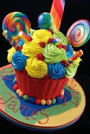 giant cupcake for dad - Google Search