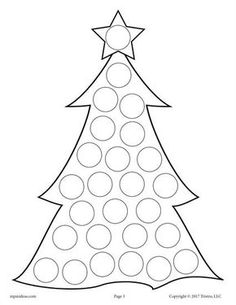 FREE Printable Christmas Tree Do-A-Dot Printable! Christmas dot coloring pages like this are perfect for toddlers and preschoolers to practice fine motor skills and more! Get all 10 Christmas Do A Dot Printables for FREE here --> www. Kids Crafts, Winter Crafts For Kids, Toddler Crafts, Abc Crafts, Preschool Christmas, Christmas Activities, Kids Christmas, Christmas Ornaments, Christmas Music