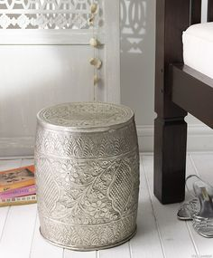 Great A Stool And Storage   Love The Look Of This Piece! A Nice Decor Idea For My  #saveur #dinnerparty | The SAVEUR Dinner Party | Pinterest | Metal Stool  And ...