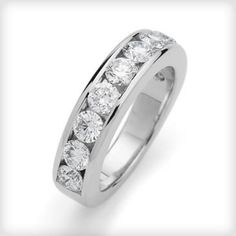 Marilyn Monroe: Baguette Eternity Band - Joe DiMaggio proposed to Marilyn with a baguette-cut diamond eternity band. Its understated elegance is exactly why the style is still popular today http://www.charleskoll.com/product-category/earrings/