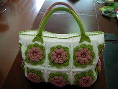flower motif @ tote bag