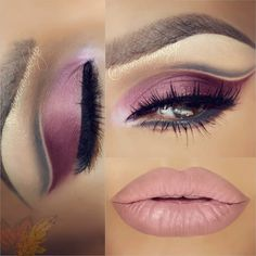 """Hi gorgeous happy Sunday!! ⭐Eye shadows JUICY PLUM (outer corner wing and below lower lashes) , REVENGE (in the middle lid) , ESSENCE (inner corner) &…"""
