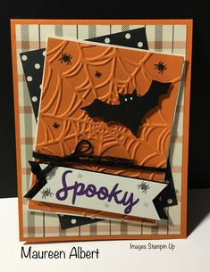 Stampin Up Paper Pumpkin September 2018 alternative card.- Stampin Up Paper Pumpkin September 2018 alternative card. Halloween Tags, Theme Halloween, Halloween Paper Crafts, Halloween Scene, Homemade Halloween, Holidays Halloween, Halloween Decorations, Halloween Costumes, Handmade Halloween Cards