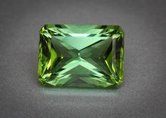 Bright Apple Green Tourmaline 3.9Carat Octagon radiant cut – Nigeria