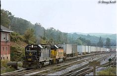 The Baltimore and Ohio Railroad, our nation& first common-carrier was one of the three major eastern trunk lines but also the weakest. Today, much of the system remains in use by CSX Transportation. Baltimore And Ohio Railroad, Csx Transportation, Norfolk Southern, Train Pictures, Model Trains, West Virginia, Beautiful Pictures, Common Carrier, History