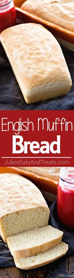 English Muffin Bread ~ Perfect Bread for Toasting! Homemade Bread that has the Same Texture and Flavor as Your Favorite English Muffins ~ http://www.julieseatsandtreats.com