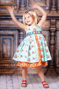 Aqua Sailboat Kate Dress - I love Jelly the Pug dresses - if I had unlimited funds I would buy all of Lil's clothes from here. Cute Little Girls, My Little Girl, Cute Kids, Cute Dresses, Girls Dresses, Flower Girl Dresses, Divas, Kate Dress, Nautical Dress