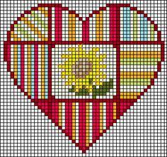 Схемы для вышивки сердечек крестом от Кирстен Шмидт (Kirsten Schmidt)