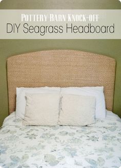 Pottery Barn Knock-Off: Seagrass Headboard – Preciously Paired Headboard Makeover, Furniture Makeover, Diy Furniture, Furniture Design, Western Furniture, Rustic Furniture, Bedroom Furniture, Seagrass Headboard, Seagrass Rug