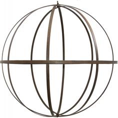 "22"" Wrought Iron Ball: Antique Rust Finish $22.50"