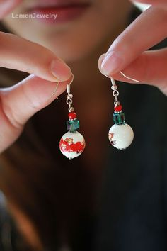 Material:Painted porcelain beads, synthetic crystaSpecification: Earrings total length 6cm/$5.99