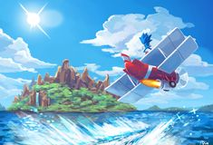 Tails tornado plane, flying, sonic and tails, angle island, sonic sonic 3 Sonic The Hedgehog, Hedgehog Art, Shadow The Hedgehog, Hedgehog Drawing, Video Game Art, Video Games, Sonic Team, Sonic Unleashed, Classic Sonic