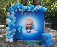 Boss Birthday, Baby Boy 1st Birthday, Birthday Parties, Balloon Decorations, Table Decorations, Balloon Designs, Baby Balloon, Boss Baby, Party Themes