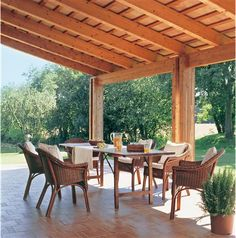 Pergola For Small Backyard Key: 3389993574 Outdoor Living Rooms, Outside Living, Outdoor Dining, Outdoor Spaces, Outdoor Decor, Backyard Gazebo, Backyard Patio Designs, Patio Roof, House Deck