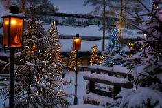 Santa Claus Village at the Arctic Circle in Rovaniemi, Lapland Days Until Christmas, Christmas Banners, Christmas Scenes, Merry Little Christmas, Modern Christmas, All Things Christmas, Winter Christmas, Christmas Lights, Christmas Decorations
