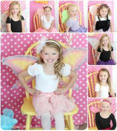 cute photobooth backdrop, love the yellow chair!  Maybe I can find a chair to spray paint white or pink?