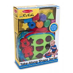 Love this Take-Along Shape Sorter Toy from Melissa and Doug - it's only $19.99 right now!  Putting it on my Cyber Monday wishlist!  Check it out at JustKidsStore.com
