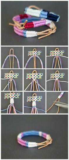 braided bracelet, craft gifts, colourful yarn, diy tutorial, step by step bracelets diy bracelet bracelet maori stacked bracelet jewelry bracelets bracelet diy bracelets bracelet charms bracelet Diy Bracelets Easy, Bracelet Crafts, Braided Bracelets, Handmade Bracelets, Jewelry Crafts, Leather Bracelets, Leather Cord, Braclets Diy, Gold Bracelets