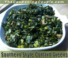 Southern Style Collard Greens Recipe ~ Delicious Side Dish!
