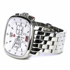 Michele Stainless Steel Sport Sail Large Square Women's Watch - $679.99
