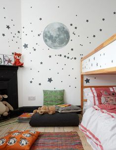 Cool Kids Rooms: Fun Ideas and Inspiration For Children's Bedrooms Blue Teen Girl Bedroom, Teen Girl Bedrooms, Girl Room, Childrens Bedroom Decor, Childrens Bedrooms Shared, Childrens Wall Murals, Cool Kids Rooms, To Infinity And Beyond, Awesome Bedrooms