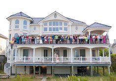 Beach house reception....LOVE this picture