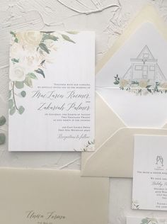 ivory greenery wedding details Custom Wedding Invitations, Wedding Stationery, Colored Envelopes, Custom Envelopes, Neutral Colour Palette, Envelope Liners, Champagne Color, Wedding Season, Getting Married