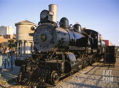 Locomotive, Haymarket District, Lincoln, Nebraska, USA Photographic Print by Michael Snell at Art.com