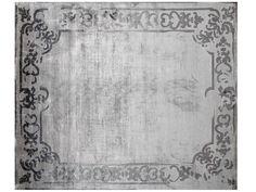 Tapis fait main rectangulaire sur mesure MARQUISE SHADOW VINTAGE PEARL Collection Renaissance by EDITION BOUGAINVILLE