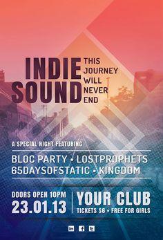 indie sound flyer